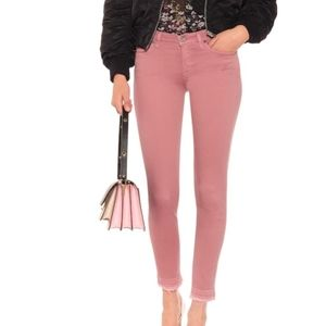 7 For All Mankind dusty rose jeans.